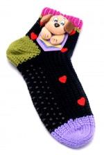 Женские носки тапочки с аппликацией 3-Д