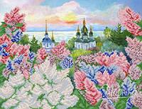 "Схема для вышивки бисером ""Весенний Киев"" 26х34 см."