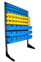 Стеллаж для СТО с пластиковыми ящиками под метизы