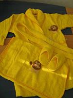 Maisonette Халат детский Aslan +полотенце ( жёлтый)