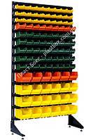 Стеллаж для крепежа с пластиковыми ящиками