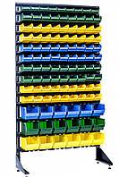 Контейнеры складские на стеллаже пристенном