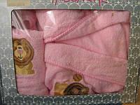 Maisonette Халат детский Aslan +полотенце (розовый)