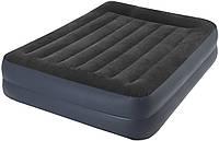 Кровать надувная со встроенным насосом (152-203-42см) INTEX 64124