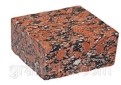Брусчатка 10х10х5 пиленая верх термиченый (красная), фото 2