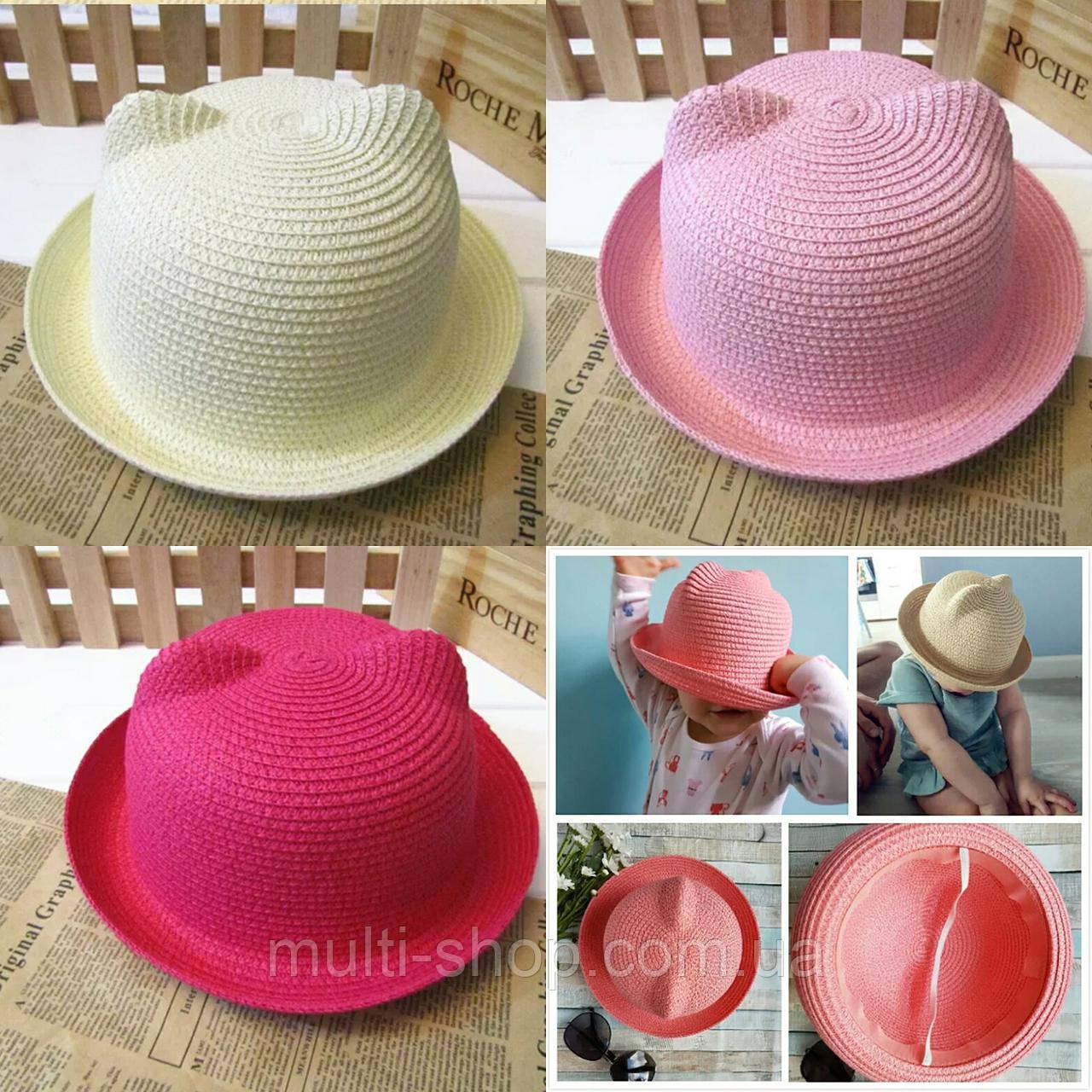 Шляпка для девочки Кошечка