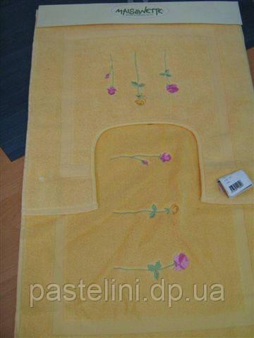 Набор ковриков для ванной комнаты Emily.2 пред. жёлтый
