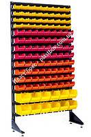 Контейнеры складские на стеллаже пристенном 1800 мм на 120 боксов