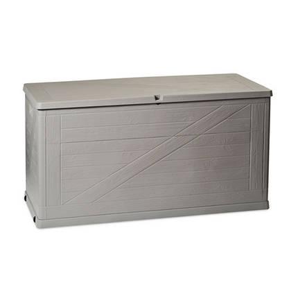 Сундук пластиковый Wood 420 л теплый серый Toomax, фото 2