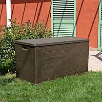Сундук пластиковый Wood 420 л теплый серый Toomax, фото 3