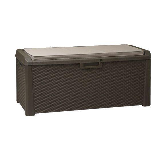 Скриня пластиковий Santorini Plus 550 л коричневий з подушкою Toomax