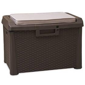 Скриня пластиковий Santorini Plus 125 л коричневий з подушкою Toomax
