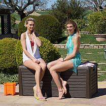 Скриня пластиковий Florida 550 л теплий сірий Toomax, фото 2
