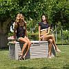 Сундук пластиковый Florida 550 л теплый серый Toomax, фото 2