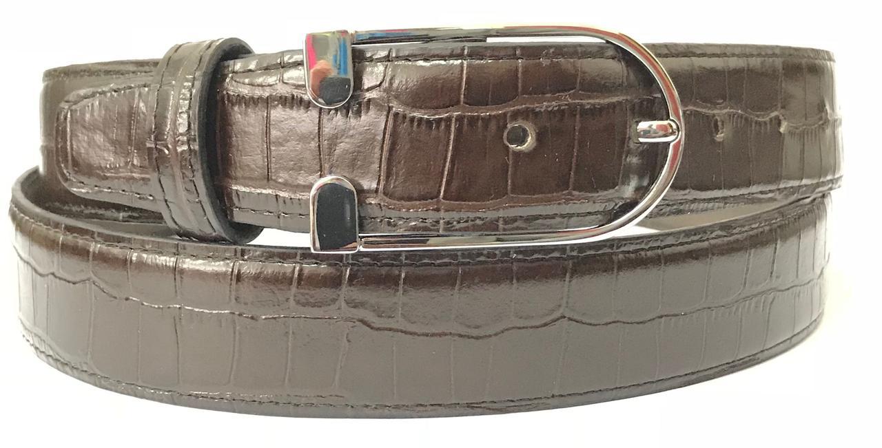 Женский ремень кожаный Pellagio 35311-009 3.5 см коричневый