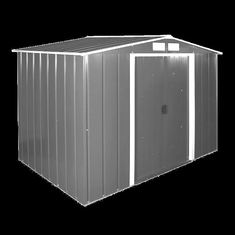 Сарай металлический ECO 320x241x196 см серый с белым