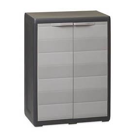 Шафа низький 2-х дверний Elegance S Toomax чорний сірий