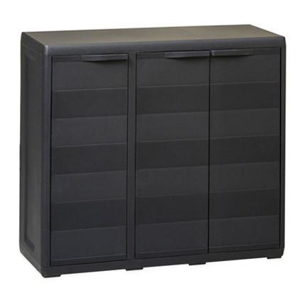 Шафа низький 3-х дверний Elegance S Toomax чорний