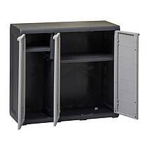 Шафа низький 3-х дверний Elegance S Toomax чорний, фото 2