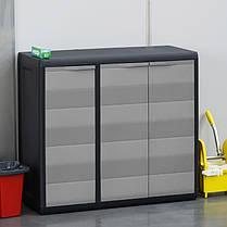 Шафа низький 3-х дверний Elegance S Toomax чорний, фото 3