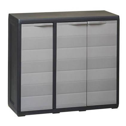 Шкаф низкий 3-х дверный Elegance S Toomax черный серый, фото 2