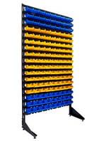 Стеллаж для склада с пластиковыми ящиками для метизов , фото 1