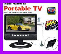 9,5 Портативный телевизор. TV 901 USB+SD!Акция