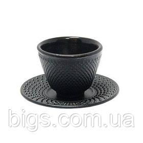 Пиала чугунная с подставкой Айрон 90мл ( чашка для чая )