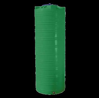 Емкость 300 л узкая, вертикальная зелёная