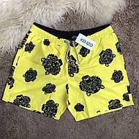 Мужские плавательные шорты в стилеKenzo Swimming Trunks Tiger Yellow