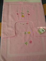 Набор ковриков для ванной комнаты Emily 2 пред. розовый.