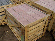 Брусчатка 20х10х5 пиленая верх термиченый (красная), фото 2