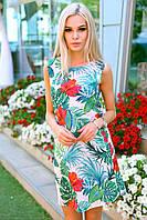 Летнее платье - трапеция / мос - креп / Украина, фото 1