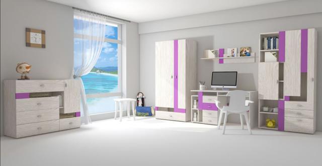 Детская комната Axel (дуб атланта / виола)