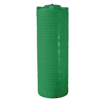 Емкость 500 л узкая, вертикальная зеленая