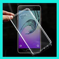 Прозрачный силиконовый чехол для Samsung Galaxy A3 2017 A320 ультратонкий