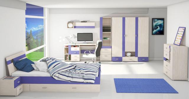 Детская комната Axel (дуб атланта /синий)