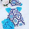 Туника + трусики + бандана. Цвета синие