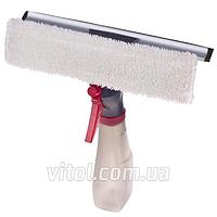 Швабра автомобильная для мытья стекол Vitol H11966 (МРН014130), 3 в 1, распылитель, пластик, авто-мойка для стекол, швабра для лобового стекла