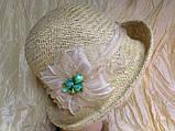 Річна капелюх з маленькими полями з натуральної соломки, фото 2
