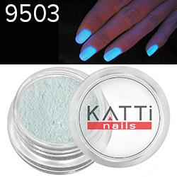 KATTi Пигмент в баночке 1g Luminescent 9503 Blue, синий светящийся в темноте