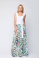 Летний красивый комплект платье и юбка Грэйз (М)