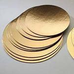 Основа кругла під торт 38 см золото/срібло