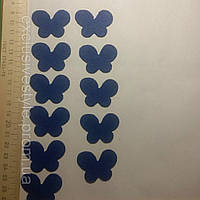 Термо клеевая аппликация синяя бабочка