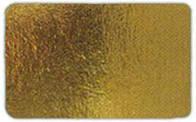 Подложка прямоугольная под торт 40*50 см, золото/серебро