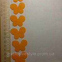 Термо наклейка оранжевая бабочка