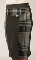 Женская модная юбка в клетку материал шерсть