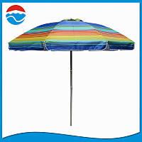 Пляжный зонт UMBRELLA 220 cm super.С наклоном,клапаном и напылением!Опт