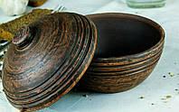 Горшечок порційний для запікання з кришкою глиняний 0,55 л