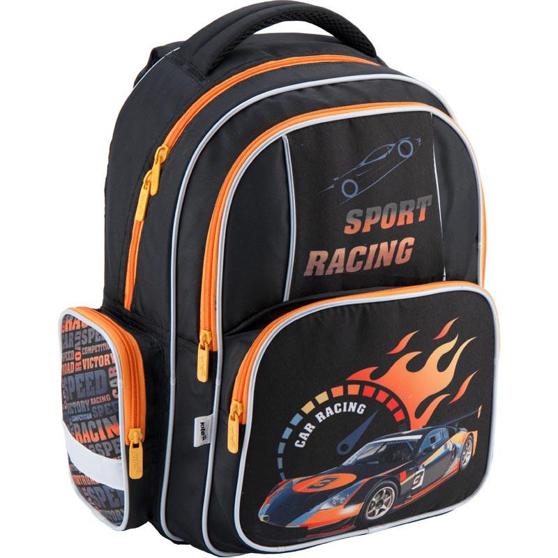 bfbd4fe87526 Ранец (рюкзак) школьный для мальчика - Машина, 514 Sport racing K18-514S